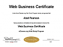 Web Business Certificate