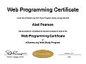 Web Programming Certificate