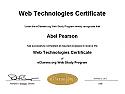 Web Technologies Certificate